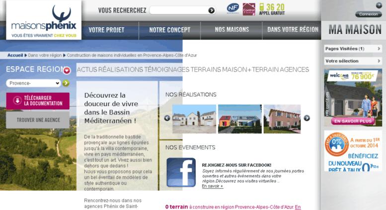 Access Paca.maisons Phenix.com. Construire Sa Maison En Provence Alpes Côte  Du0027Azur