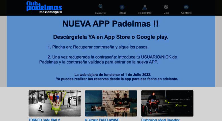 Access club padelmas valencia pistas de for Pista de padel individual