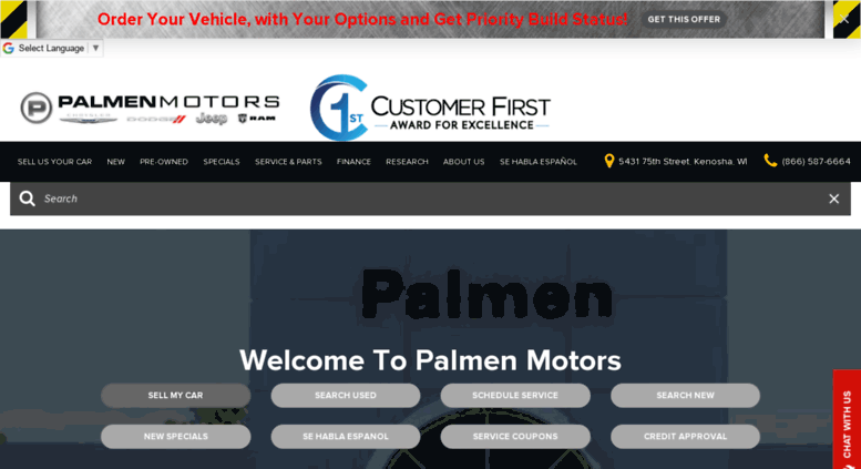 Alfa Romeo Chrysler Dodge FIAT Jeep RAM Dealership Kenosha WI Used Cars Palmen Motors
