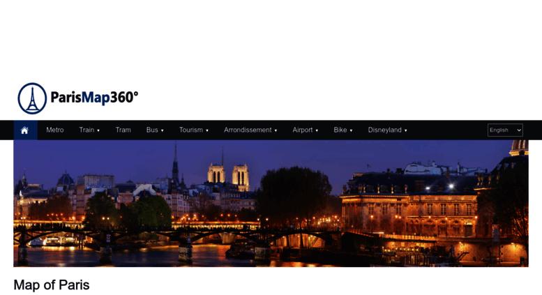 Access parismap360.com. Transportation map & tourist map of Paris ...