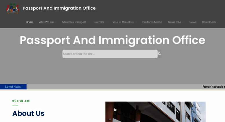 Access Passportmu Passport And Immigration Office Home