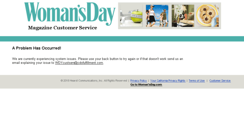 Womans Day Com >> Access Pay Womansday Com Woman S Day Magazine Customer Service