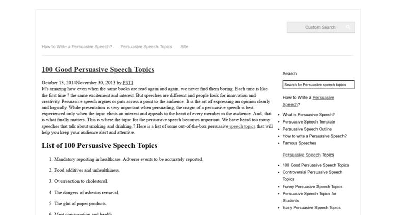 Easy Persuasive Essay Topics  Agnezangeip Persuasive Essay Topic Ideas Persuasive Speech Topic Outline Fc Torture