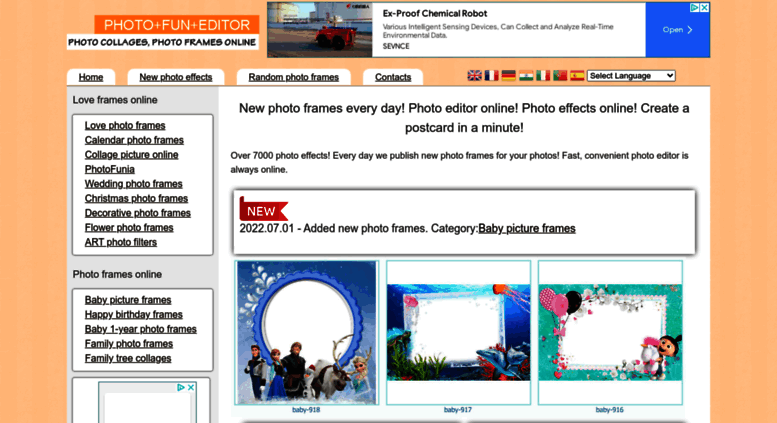 Access photofuneditor.com. New Photo Frames every Day! Photo Editor ...