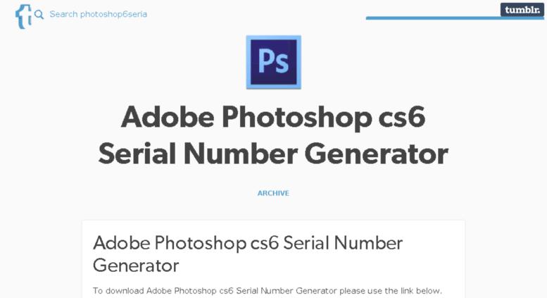 adobe photoshop cs6 license key generator