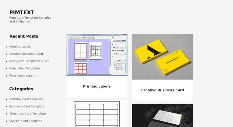 Access pimtext.com. Pimtext » printing labels. creative business ...