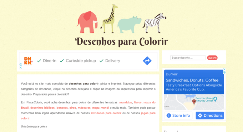 Access pintarcolorir.com.br. Desenhos para Colorir pintar e imprimir