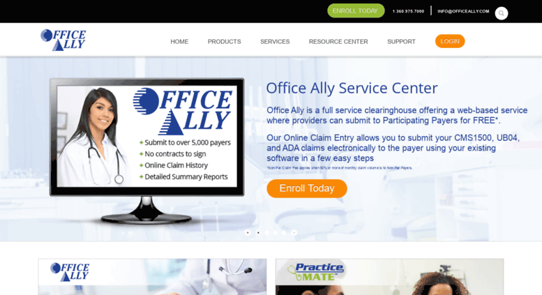 Access pm.officeally.com. Office Ally - Home