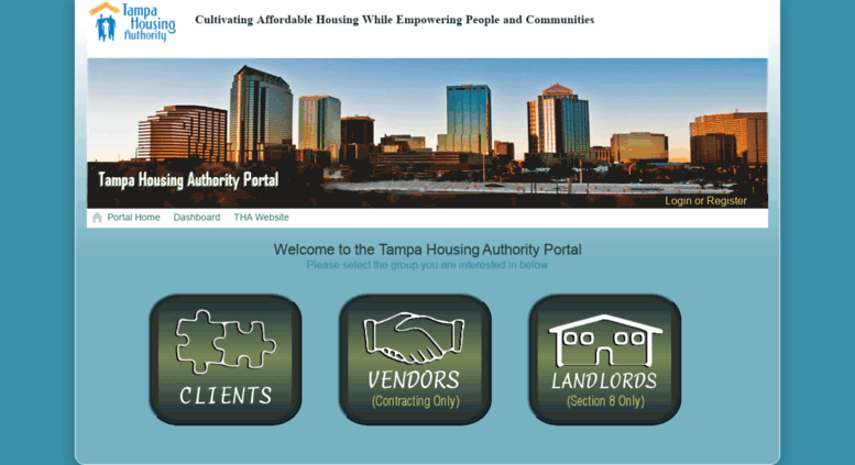 Welcome To The Tampa Housing Authority Portal