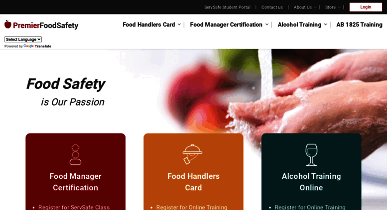 Access Premierfoodsafety Food Safety Certification Training And