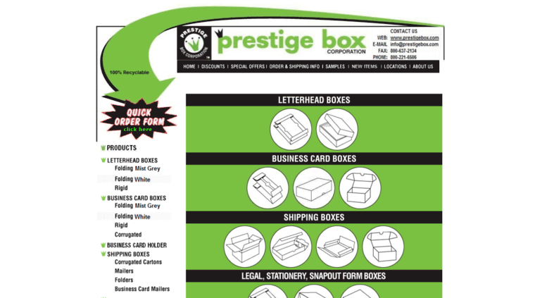 Access prestigebox letterhead boxes prestige box prestigebox screenshot reheart