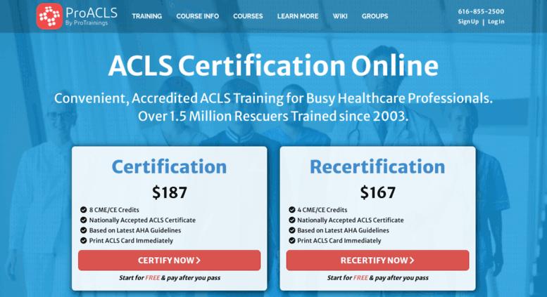 Access Proacls Online Acls Certification Recertification