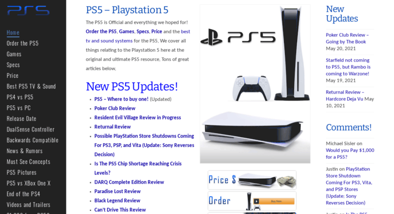 Access Ps5playstation5 PS5 News Release Date Specs Games