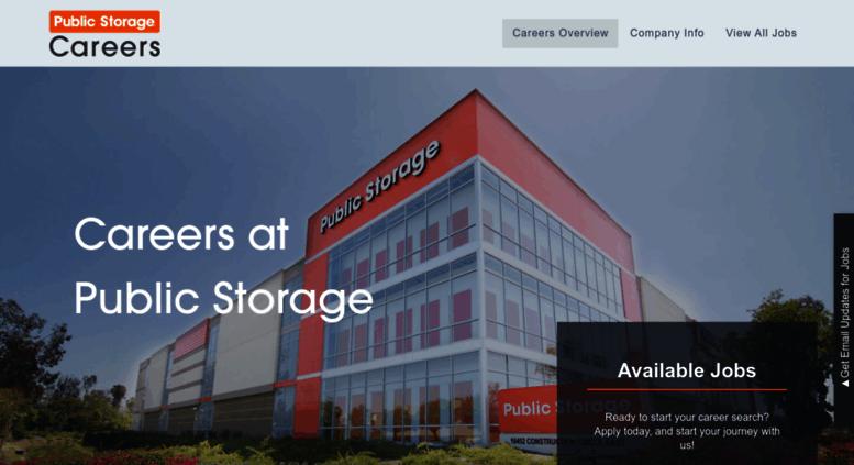 Public Storage Careers Jobs
