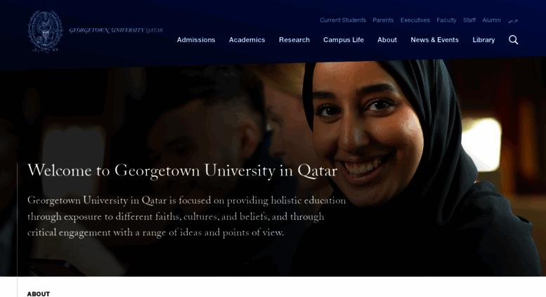 Access Qatarorgetown Georgetown University In Qatar