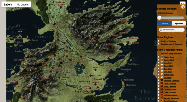Access quartermaester.info. Interactive Game of Thrones Map with ...