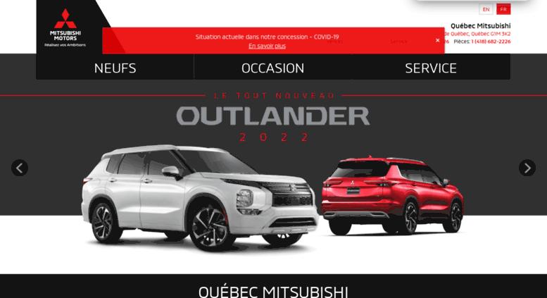 Access quebecmitsubishi.com. Concessionnaire automobile Mitsubishi