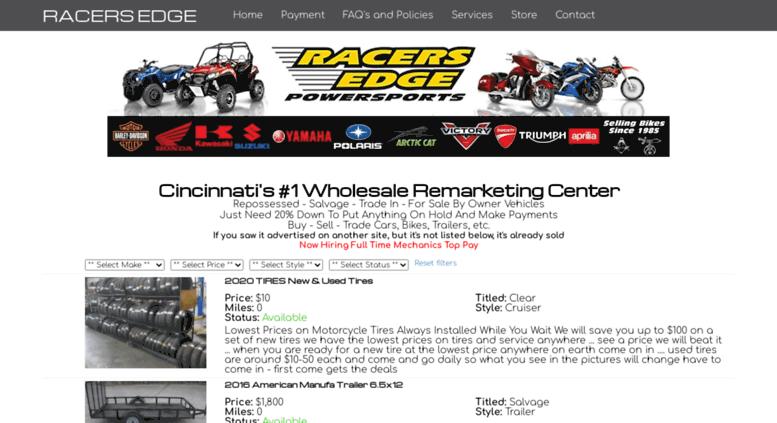 Access racersedge411.com. Racers Edge Motorcycles bethel ...