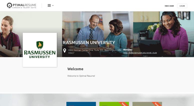 access rasmussen optimalresume com optimal resume at rasmussen college