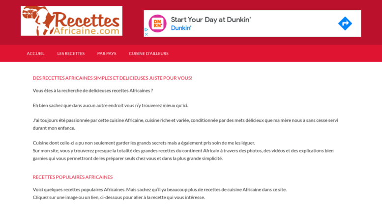 Access Recettesafricaine Com Recettes Africaines Recettes Africaines