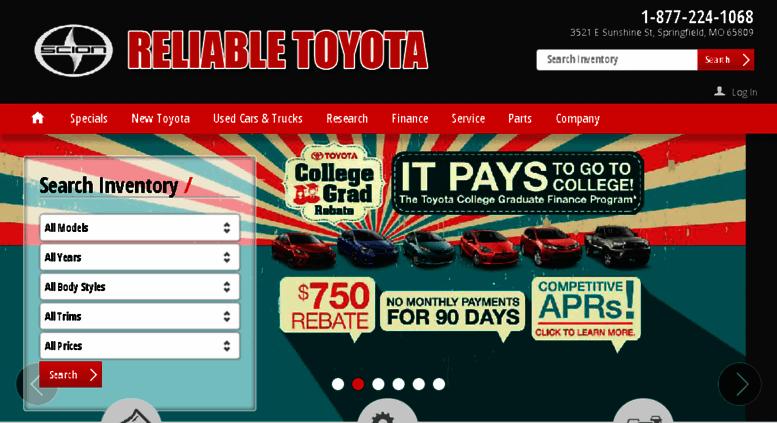 Reliabletoyotamo.calls.net Screenshot