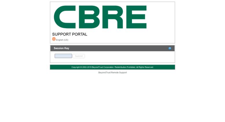Remote.cbre.com Screenshot