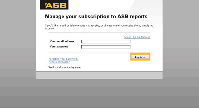 Access Reportsb Manage Email Subscriptions