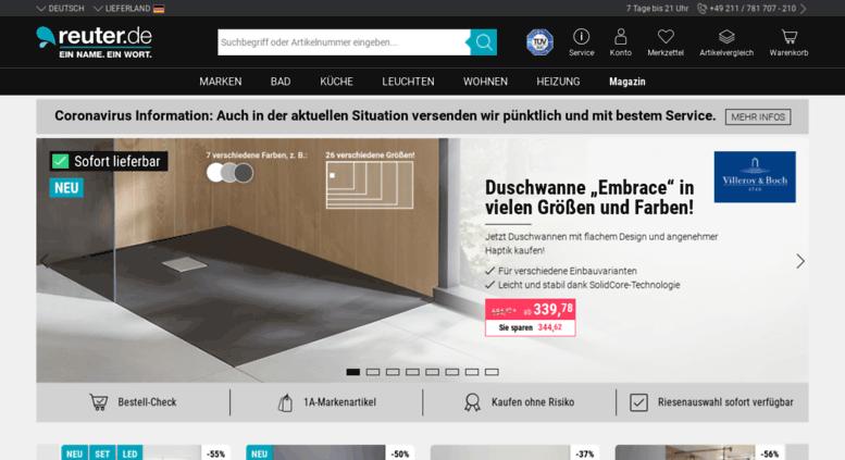 access reuter-badshop.de. reuter - online shop für badezimmer