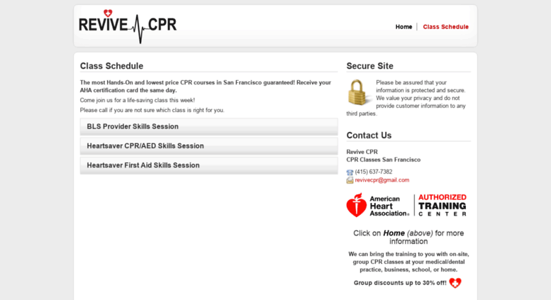 Access Revivecprtrainingenrollware Cpr Certification Bls