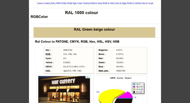 Access Rgbcolor Ral 1000 To Pantone Cmyk Rgb Hex Hsl Hsv Hsb