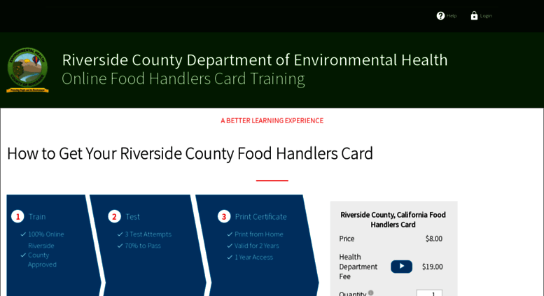 Access Riverside Statefoodsafety Com County Ca Food. Riverside Food Handlers Card ...