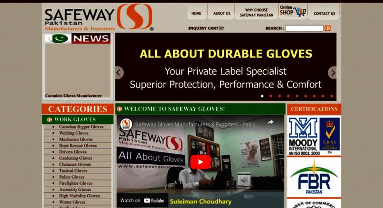 Access Safewaypakistan Safeway Gloves Manufacturers Suppliers