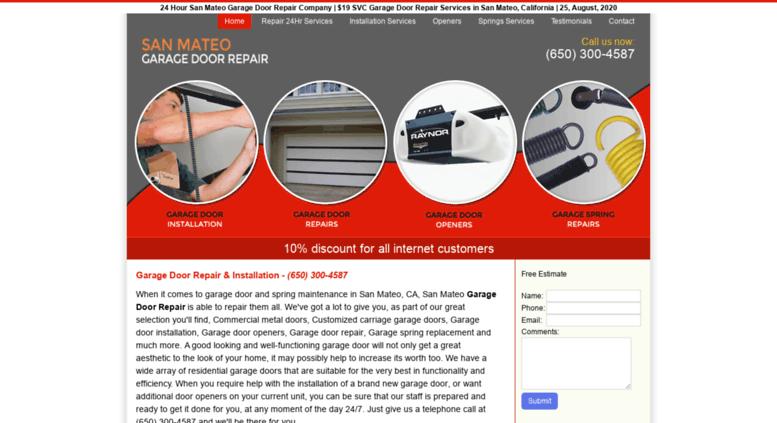 Sanmateogaragedoorrepair.biz Screenshot