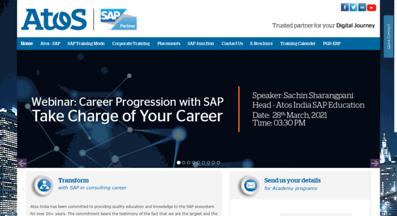 Access sapeducation.atos.net. SAP Training & Education, SAP ...