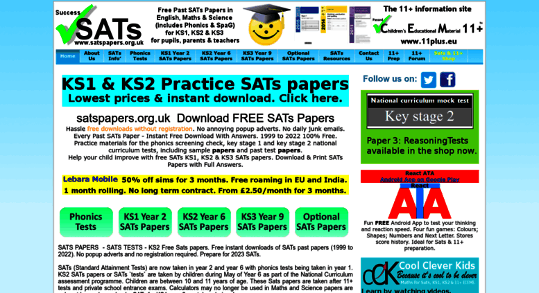 Year 5 optional sats papers english