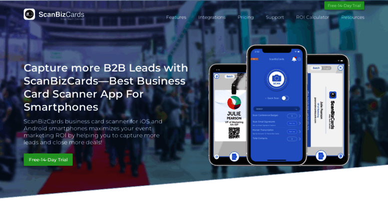 scanbizcardscom screenshot - Salesforce Business Card Scanner
