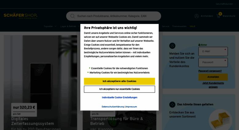 Access schaefer-shop.de. Büromöbel, Bürobedarf & Lagereinrichtung ...