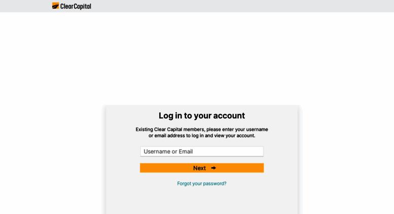 Clear capital log in