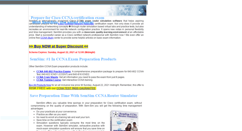 Access semsim.com. SemSim CCNA Exam: Cisco CCNA Certification Exam ...