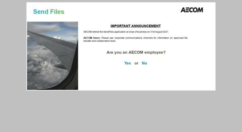 aecom sendfiles Access sendfiles.aecom.com.