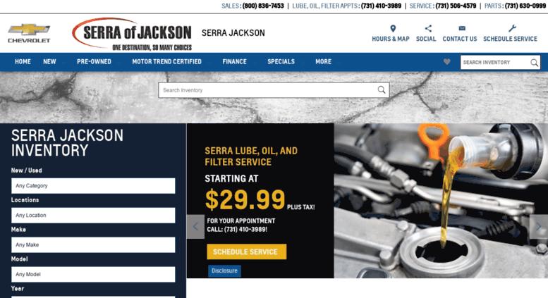 Serrajacksonmotors.com Screenshot