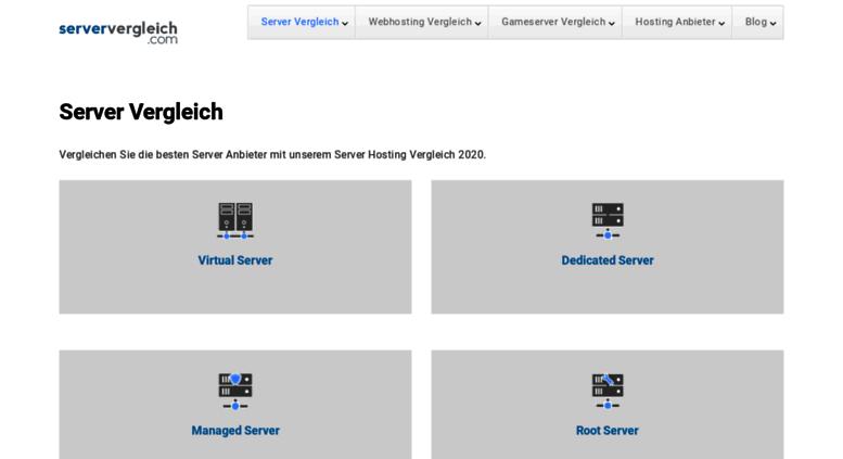 Access serververgleich.com. Server Vergleich: Virtual, Dedicated ...