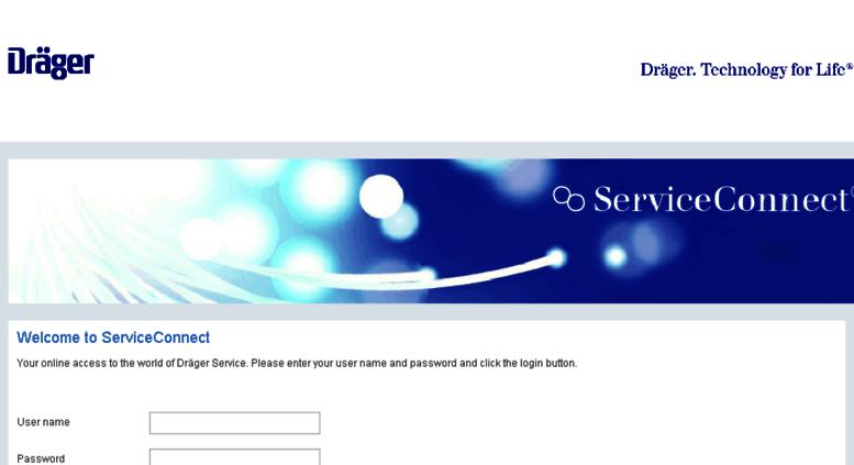 Access serviceconnect.draeger.com. Dräger ServiceConnect®