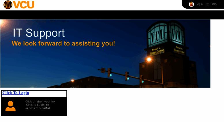 Servicedesk.vcu.edu Screenshot