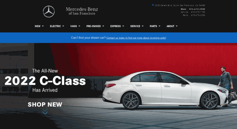 Access Sfbenzcom Bay Area MercedesBenz Dealer MercedesBenz - Mercedes benz bay area dealers