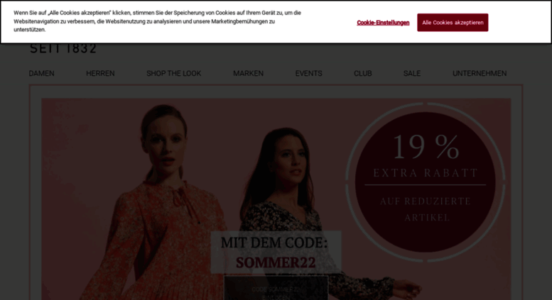 b0f4bc9802e84a Access shop-fischer1832.de. Mode   Fashion online kaufen