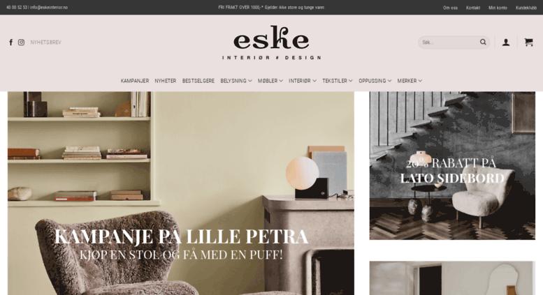 interiør shop Access shop.eskeinterior.no. Eske – Interiør # Design interiør shop