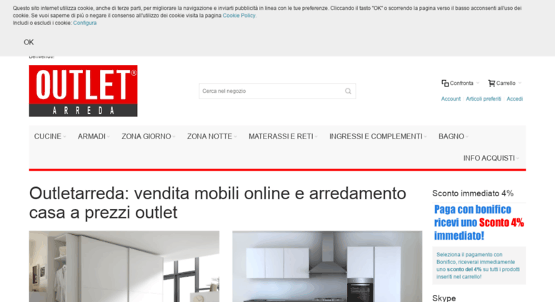 Access shop.outletarreda.com. Outlet mobili online - e-Shop ...