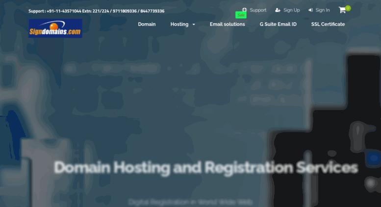 Access Signdomains Domain Registration India Web Hosting India
