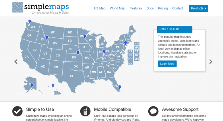 Access simplemaps interactive html5 and javascript maps for interactive html5 and javascript maps for websites simplemaps gumiabroncs Image collections